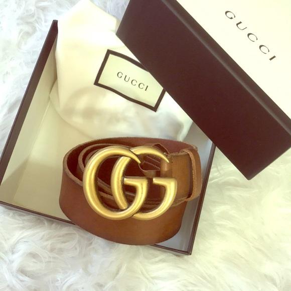 1348f715b Gucci Accessories | Authentic Brown Marmont Belt | Poshmark
